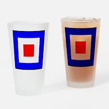 Nautical Flag Code Whiskey Drinking Glass