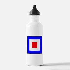 Nautical Flag Code Whiskey Water Bottle