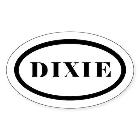 Oval Dixie Car Decal