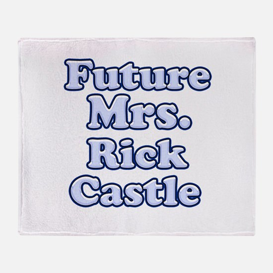 Future mrs Rick Castle blue Throw Blanket