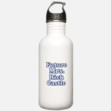 Future mrs Rick Castle blue Water Bottle