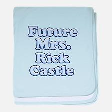 Future mrs Rick Castle blue baby blanket