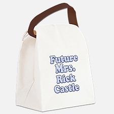 Future mrs Rick Castle blue Canvas Lunch Bag
