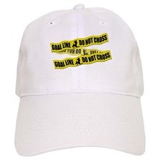 Lacrosse Goalie Crime Tape Baseball Hat