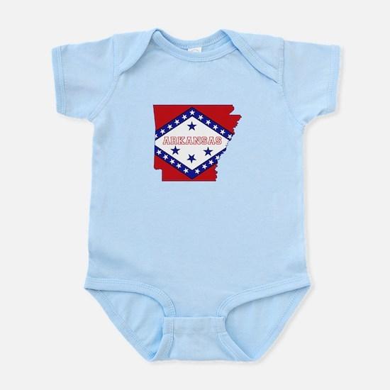Arkansas Flag Infant Bodysuit