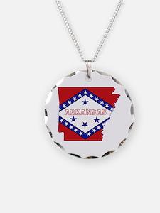 Arkansas Flag Necklace