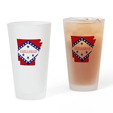 Arkansas Flag Drinking Glass