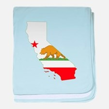 California Flag baby blanket