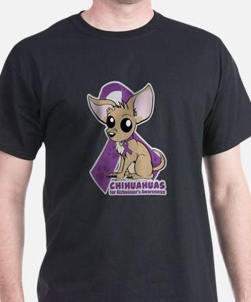 Chihuahuas for Alzheimers Awareness T-Shirt