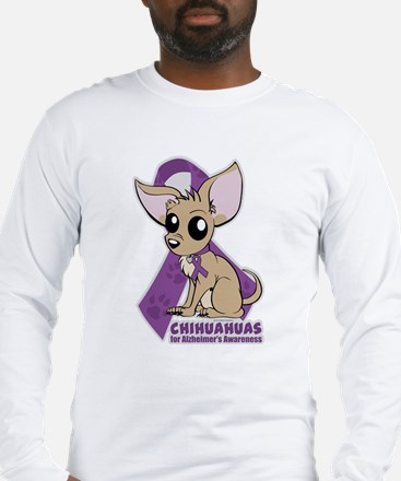 Chihuahuas for Alzheimers Awareness Long Sleeve T-