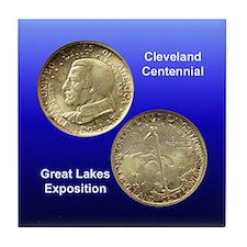 Cleveland Centennial Coin Tile Coaster