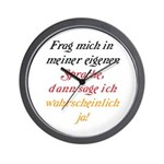 The German Wall Clock