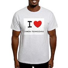 I love camera technicians Ash Grey T-Shirt