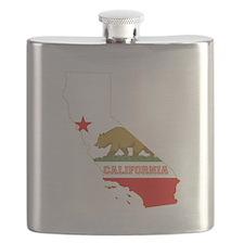 California Flag Flask