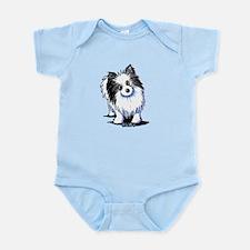 B&W Pom Infant Bodysuit