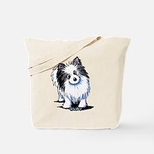 B&W Pom Tote Bag