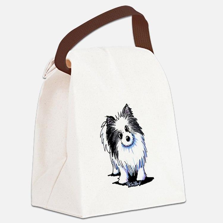 B&W Pom Canvas Lunch Bag