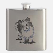 B&W Pom Flask