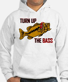 Funny Turn up the Bass design Hoodie
