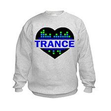 Trance Heart tempo design Sweatshirt