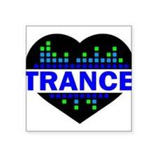 Trance Heart tempo design Sticker
