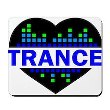 Trance Heart tempo design Mousepad
