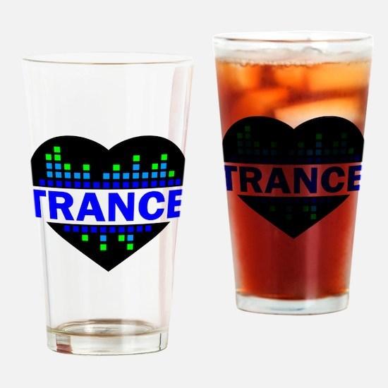 Trance Heart tempo design Drinking Glass