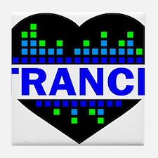 Trance Heart tempo design Tile Coaster
