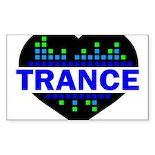 Trance Heart tempo design Decal