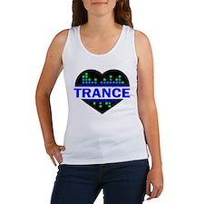 Trance Heart tempo design Tank Top
