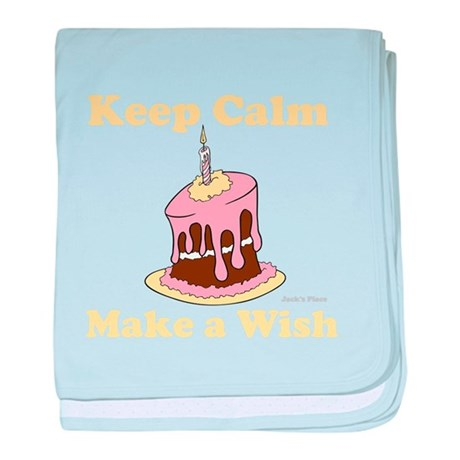 Keep Calm and Make a Wish baby blanket
