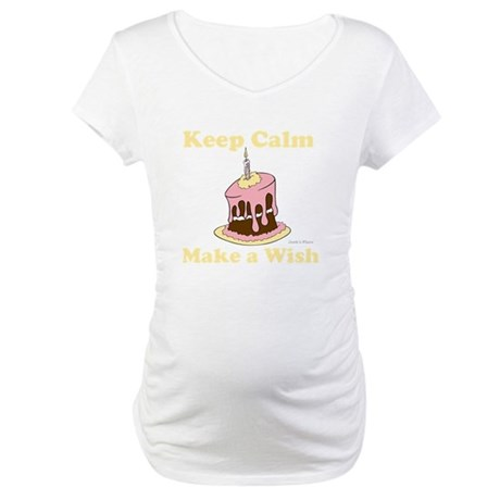 Keep Calm and Make a Wish Maternity T-Shirt