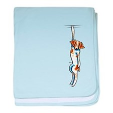 Clingy Brittany Off-Leash Art™ baby blanket