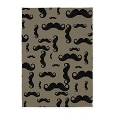 Moustache Pattern 5'x7'Area Rug