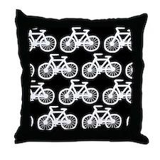 'Bicycles' Throw Pillow