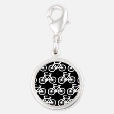 'Bicycles' Silver Round Charm