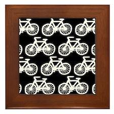 'Bicycles' Framed Tile