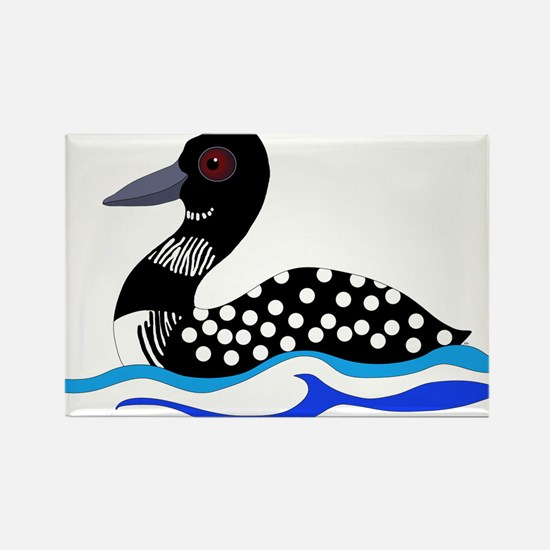 Loony Loon Rectangle Magnet (100 pack)