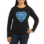 Adanvdo Heartknot Women's Long Sleeve Dark T-Shirt