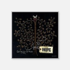 "Hope Square Sticker 3"" x 3"""