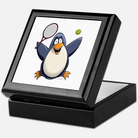 Tennis Penguin Keepsake Box