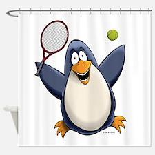 Tennis Penguin Shower Curtain