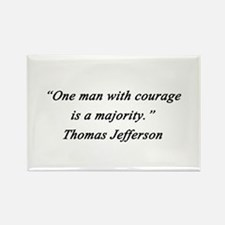 Jefferson - Man With Courage Magnets