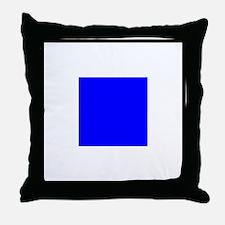Nautical Flag Code Sierra Throw Pillow