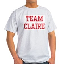 TEAM CLAIRE  Ash Grey T-Shirt
