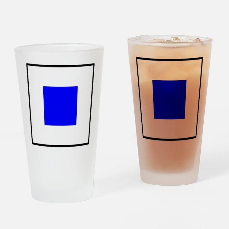 Nautical Flag Code Sierra Drinking Glass