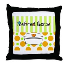 retired nurse official blanket Throw Pillow