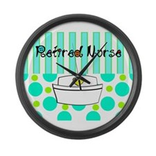 Retired nurse official blanket 2 Large Wall Clock