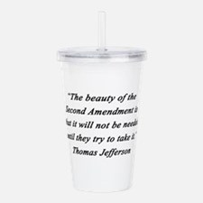 Jefferson - Second Amendment Acrylic Double-wall T