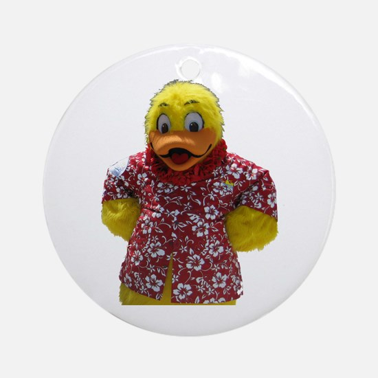 Duckie, the Float Like A Duck Mascot Ornament (Rou